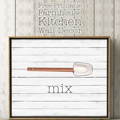 Free Printable Farmhouse Kitchen Wall Decor