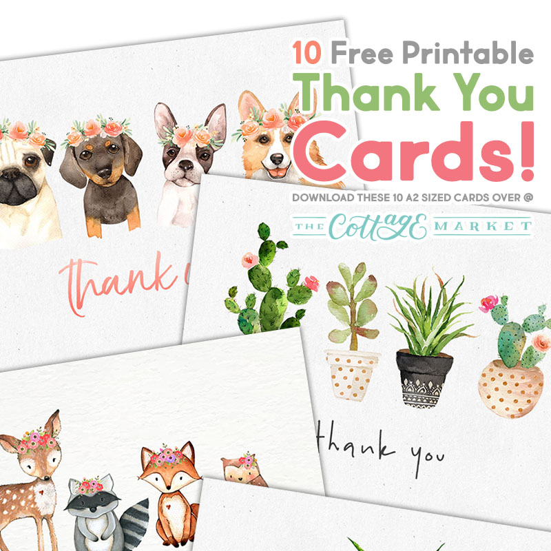graphic about Free Printable Thank You named 10 Totally free Printable Thank Yourself Playing cards On your own Cant Miss out on - The