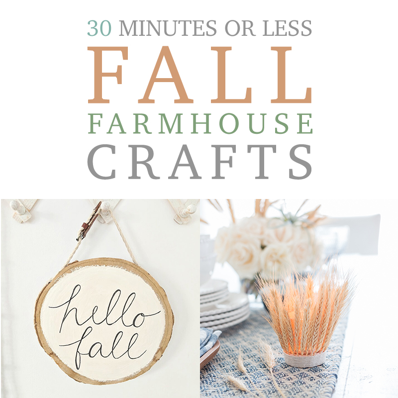 These fall farmhouse crafts are quick and easy to do.
