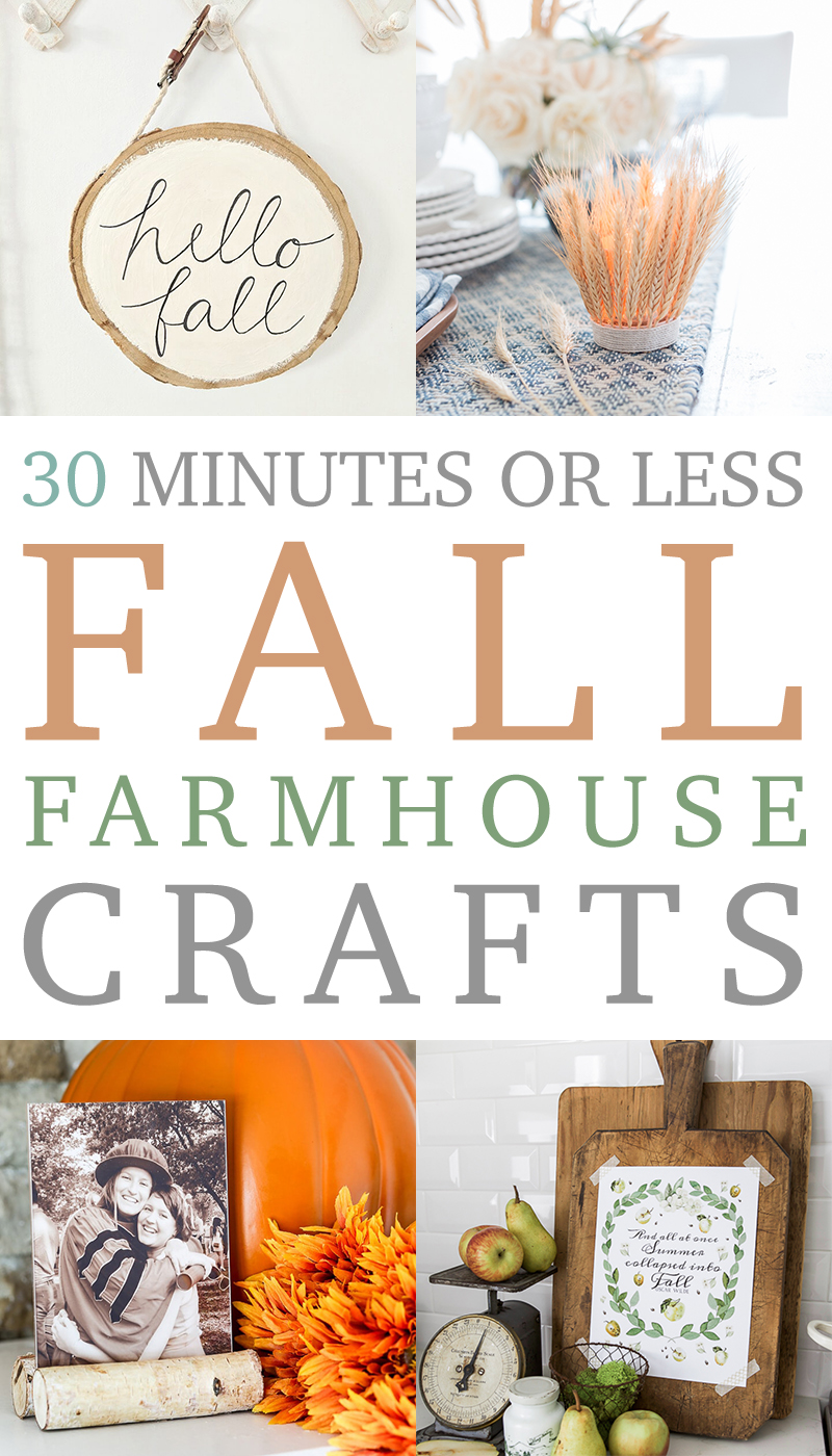 Try out some of these fall crafts to decorate your farmhouse for fall.