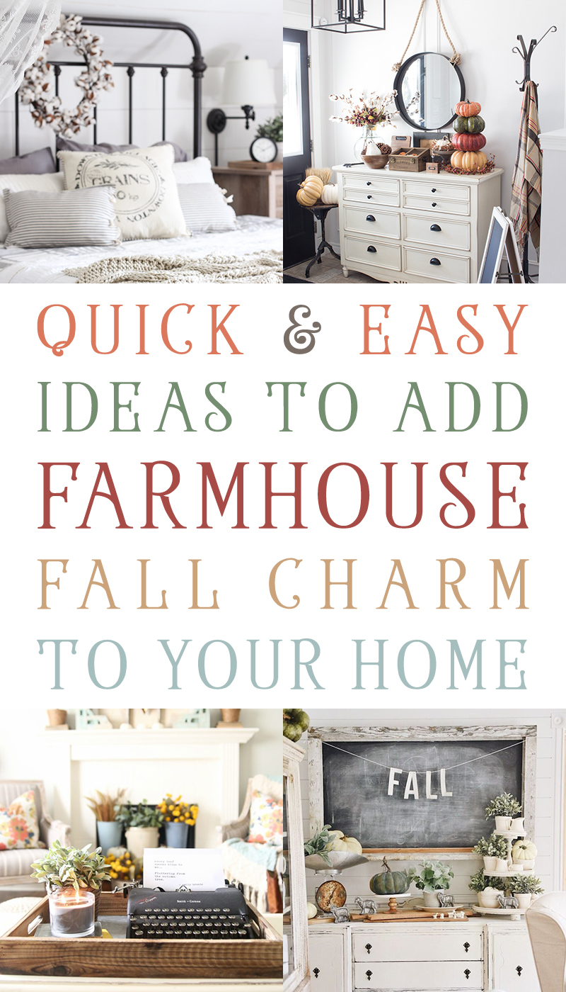 Come and visit us as we share Quick & Easy Ideas To Add Farmhouse Fall Chart To yYour Home. You won't beleive what you can do in 10 minutes!