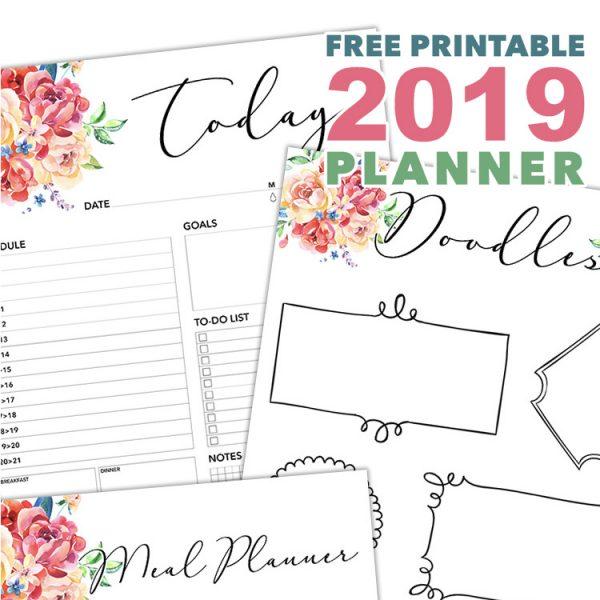 Free Printable 2019 Planner 50 Plus Printable Pages!!!