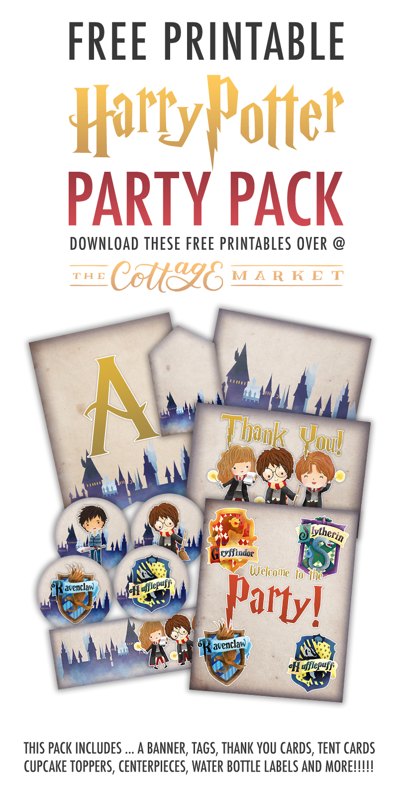 photo relating to Harry Potter Decorations Printable named Absolutely free Printable Harry Potter Occasion Pack For All Scenarios