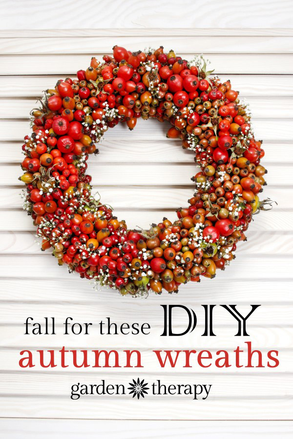 This DIY garden inspired wreath made with heirloom tomatoes is festive for fall.