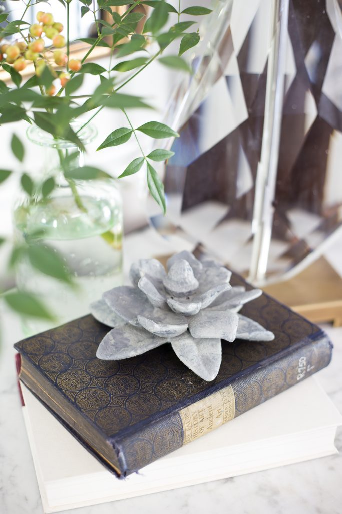 This ceramic paperweight is a brilliant thrift store DIY that you will love forever!