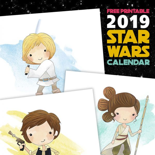 Free Printable 2019 Star Wars Calendar