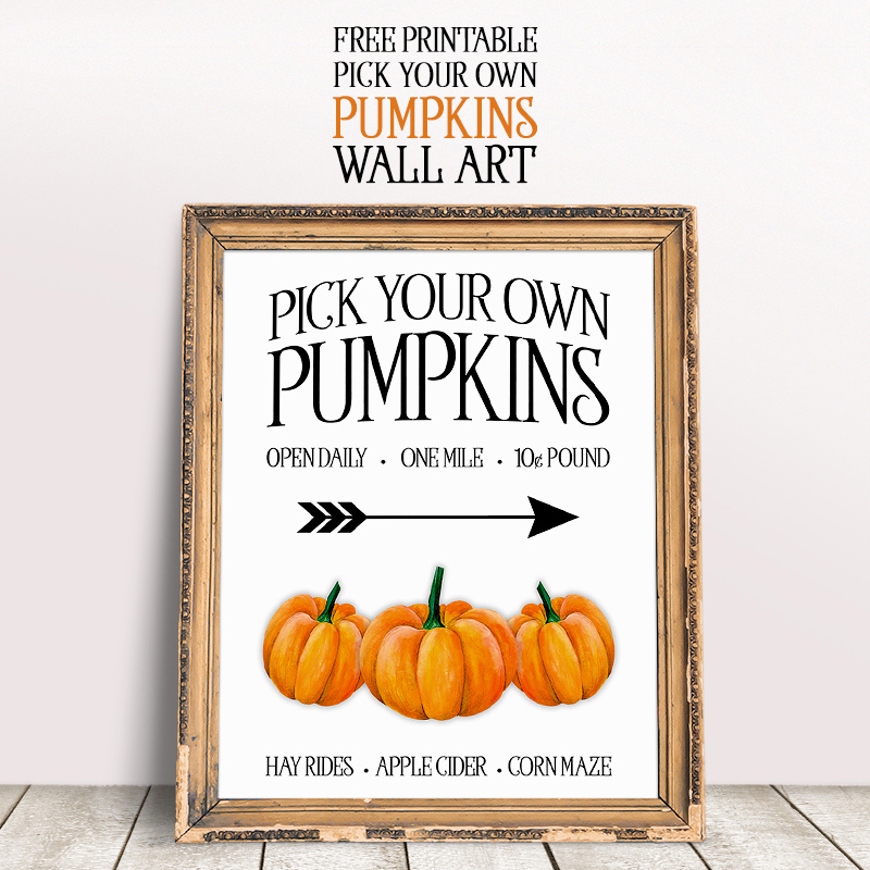 image about Printable Pumpkin Pictures titled No cost Printable Choose Your Personalized Pumpkins Wall Artwork - The Cottage