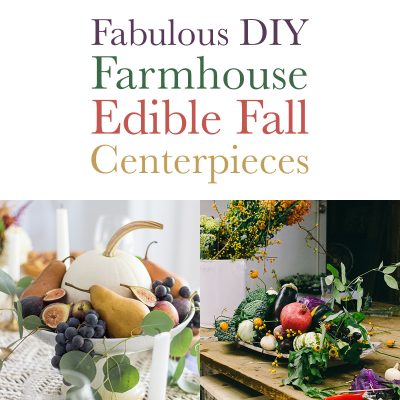 Fabulous DIY Farmhouse Edible Fall Centerpieces