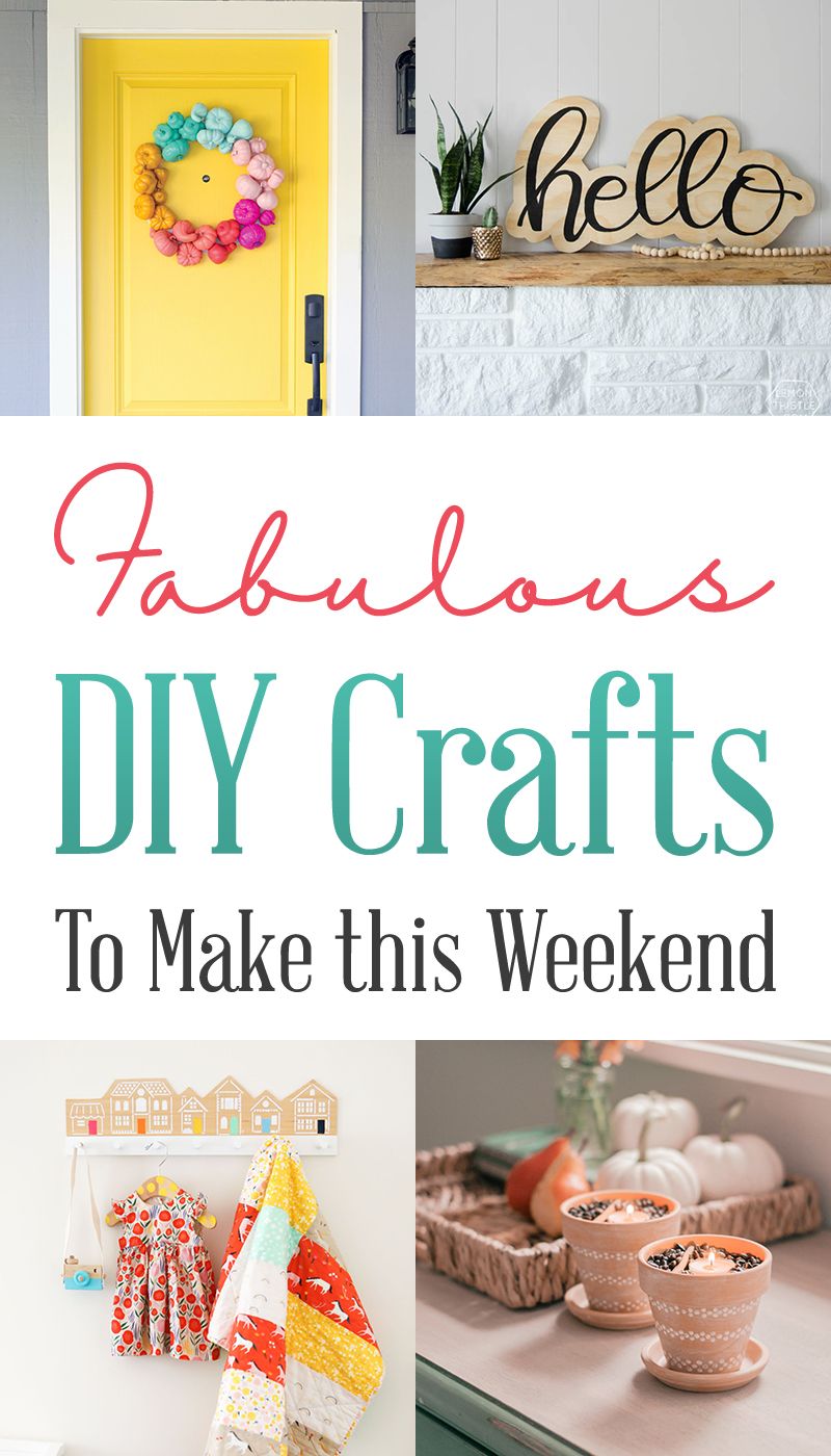 Wondering what to do this weekend?  Wel then check out these Fabulous DIY Crafts To Make This Weekend!  They will add a POP of FUN to your home!
