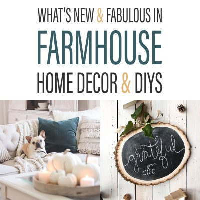 What's New and Fabulous in Farmhouse Home Decor & DIYS