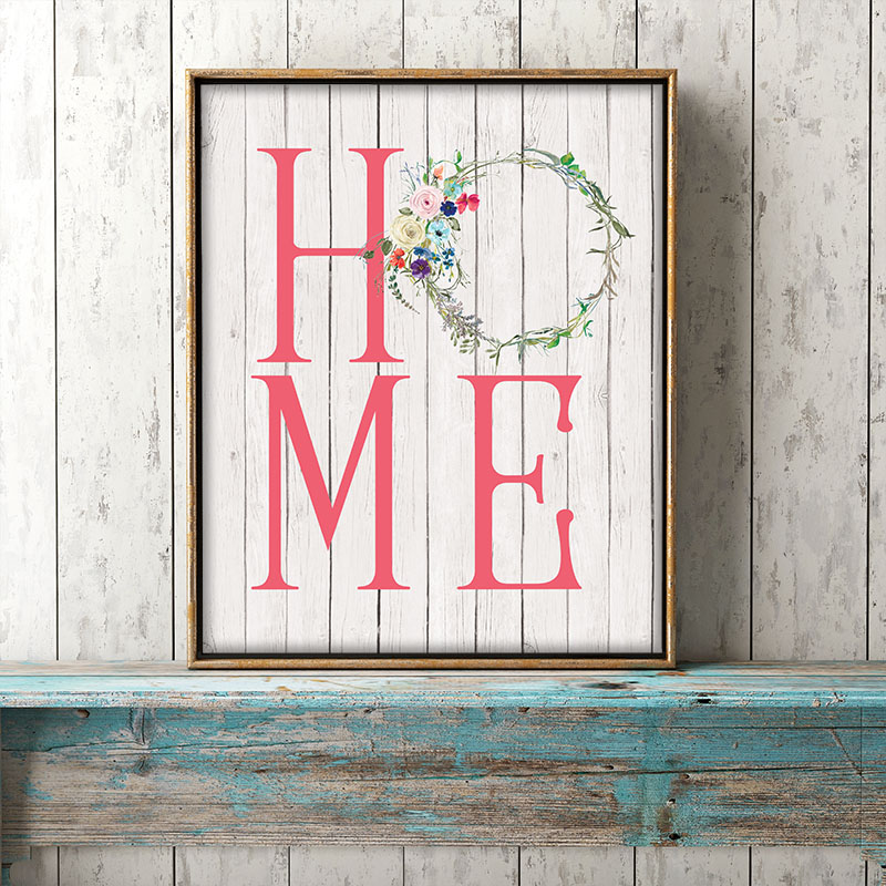 Does your Farmhouse need a new piece of Wall Art?  Well then you are going to love this Free Printable Farmhouse Home Wall Art in 4 different colors & sizes!