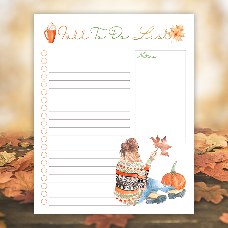 Come on in and check out our brand new Free Printable Fall Lists! You will find a Fall Bucket List and a Fall To Do List to help organized your Autumn!