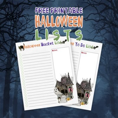 Free Printable Halloween Lists