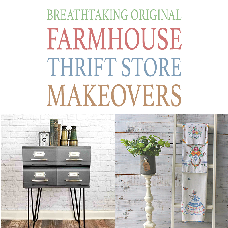 Today my friends we have an amazing Collection of Breathtaking Original Farmhouse Thrift Store Makeovers that will make you say WOW!