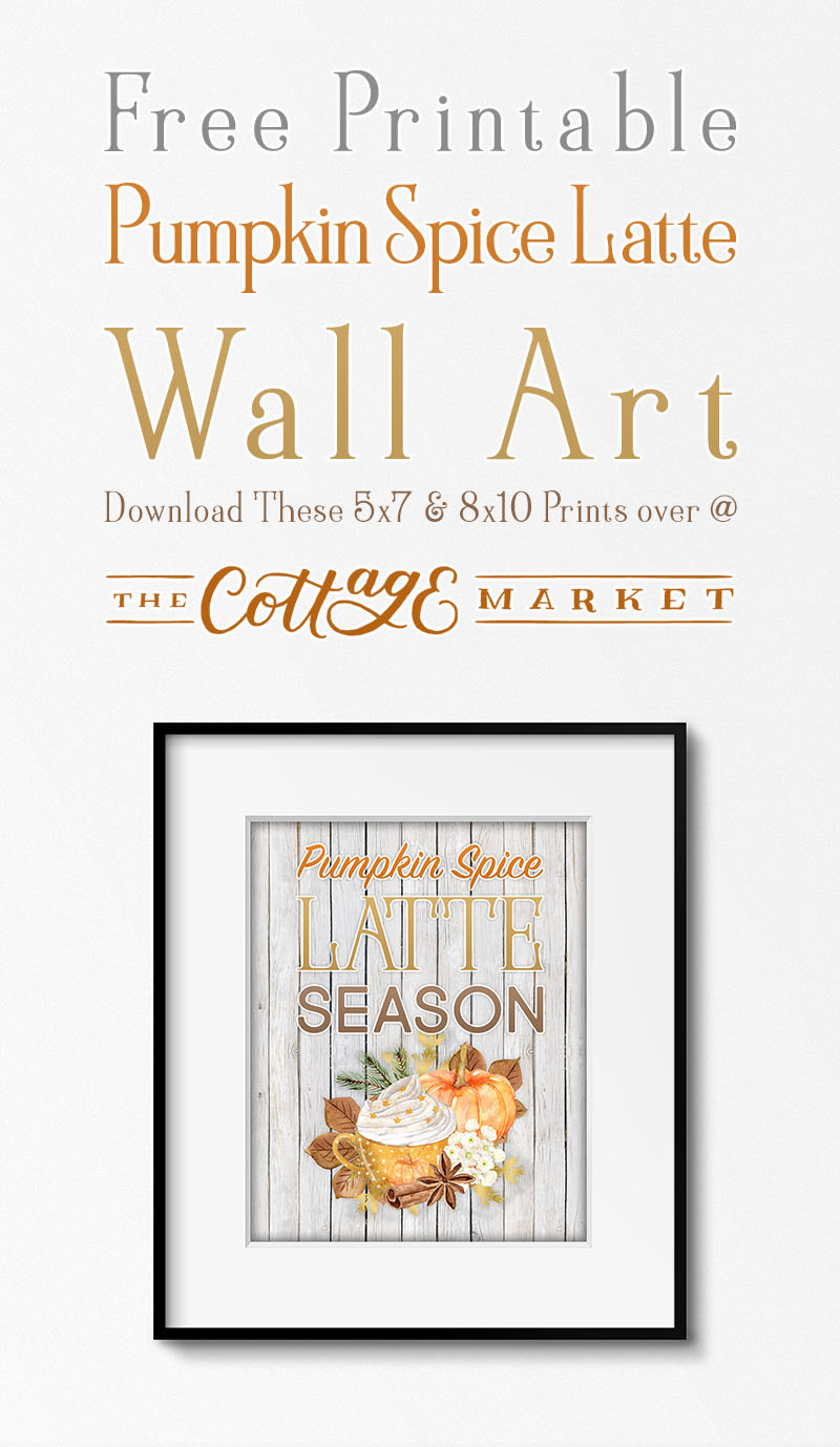 Come one in and enjoy a Pumpkin Spice Latte and then print out one of this Free Printable Farmhouse Pumpkin Spice Latte Wall Art! ENJOY!