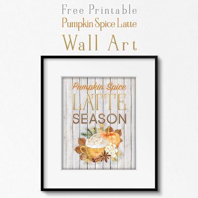 Free Printable Farmhouse Pumpkin Spice Latte Wall Art