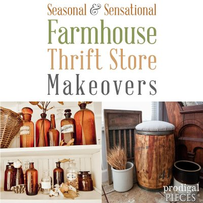 Seasonal and Sensational Farmhouse Thrift Store Makeovers