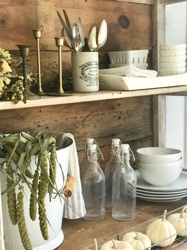 How to Style Farmhouse Shelves is what it is all about here!  So many ideas and inspirations!