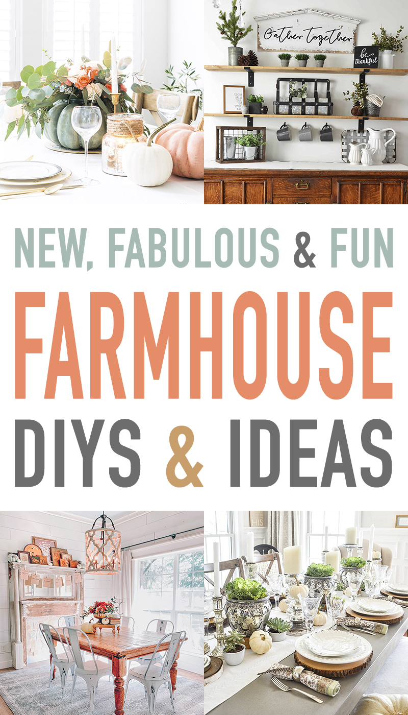 We have a wonderful Collection of New, Fabulous and Fun Farmhouse DIYS and Ideas.  You will be so totally inspired by the DIYS and Home Decor!  Enjoy!