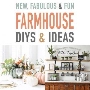 New, Fabulous and Fun Farmhouse DIYS and Ideas