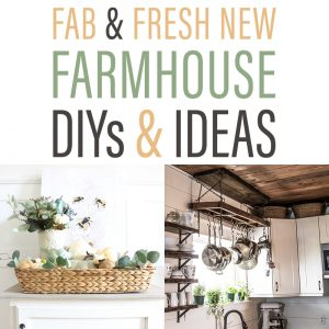 Fab and Fresh New Farmhouse DIYS and Ideas