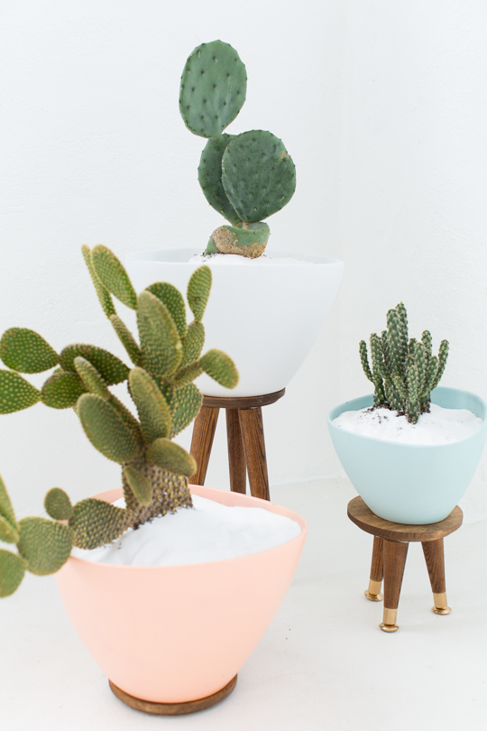 Beautiful IKEA Hack Planters waiting to adorn your home!