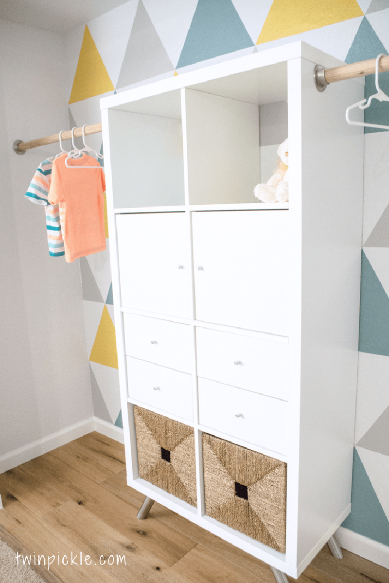 Short on space?  Check out this IKEA HACK Wardrobe!