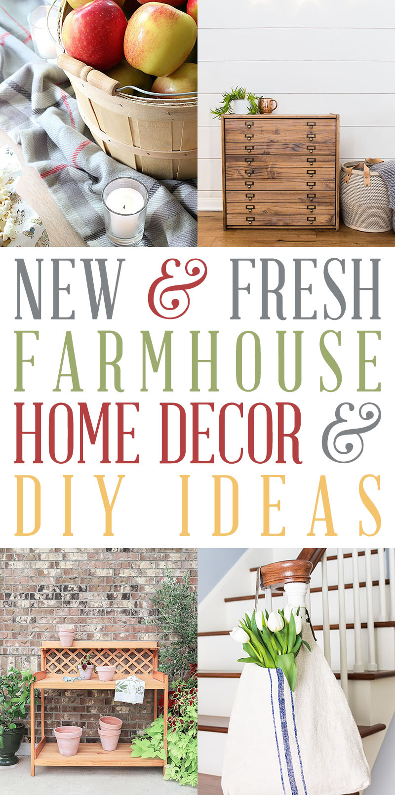 Farmhouse Decor DIY Ideas Fresh from the most fabulous Farmhouse Blog! Come and see what is happening in the Farmhouse Blogosphere!