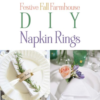 Festive Fall Farmhouse DIY Napkin Rings
