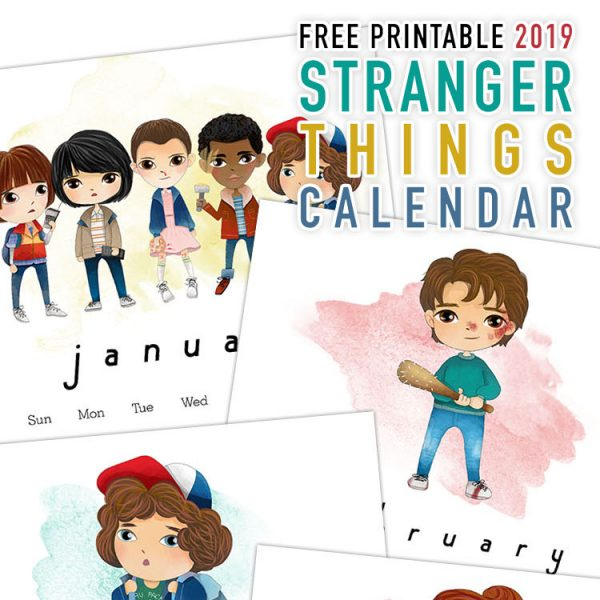 Free Printable 2019 Stranger Things Calendar
