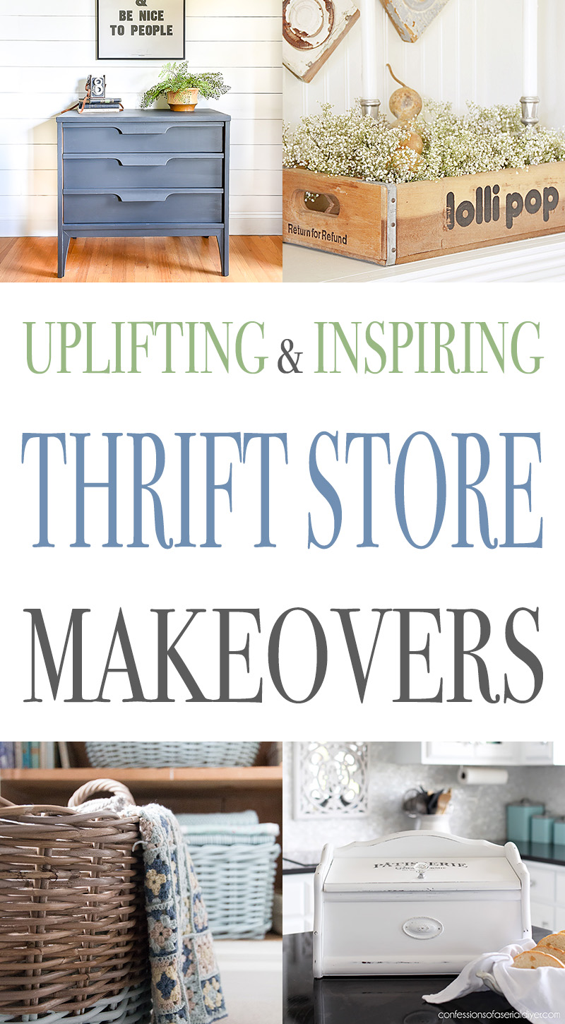 These Uplifting and Inspiring Thrift Store Makeovers are going to have you grabbing your keys to hit your Local Thrift Store! It's time to create! Go for it