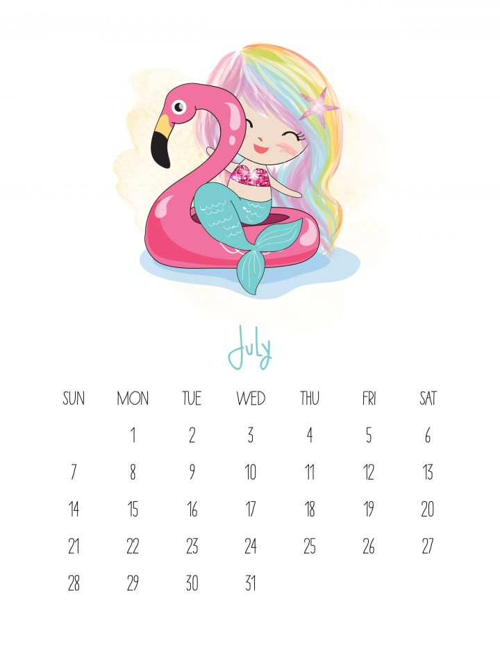 This Free Printable 2019 Kawaii Mermaid Calendar is gonig to make you smile! It is fabulous for mermaid lovers of all ages!