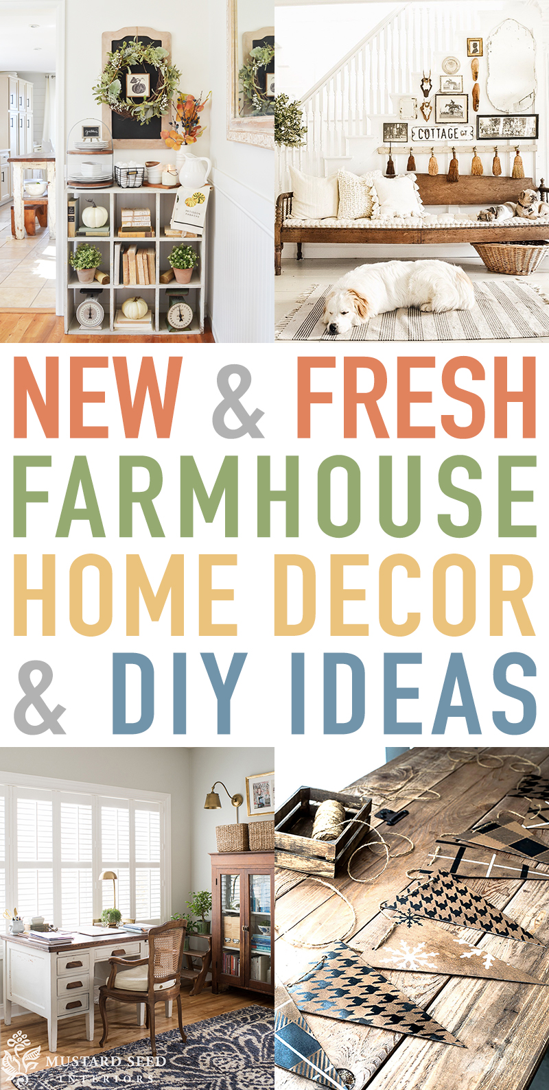 Time for some New and Fresh Farmhouse Home Decor & DIY Ideas!  Get the scoop on what is new in the wonderful world of Farmhouse this week!