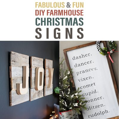 Fabulous & Fun DIY Farmhouse Christmas Signs
