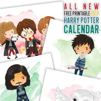 All New Free Printable 2019 Harry Potter Calendar