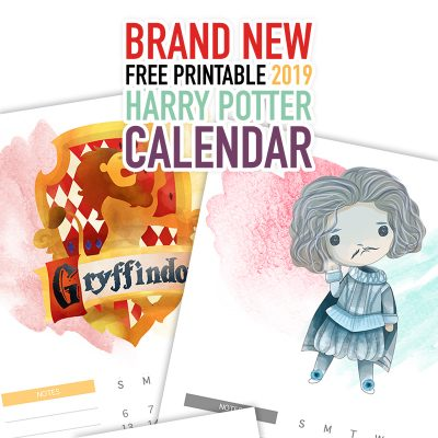 Brand New Free Printable 2019 Harry Potter Calendar
