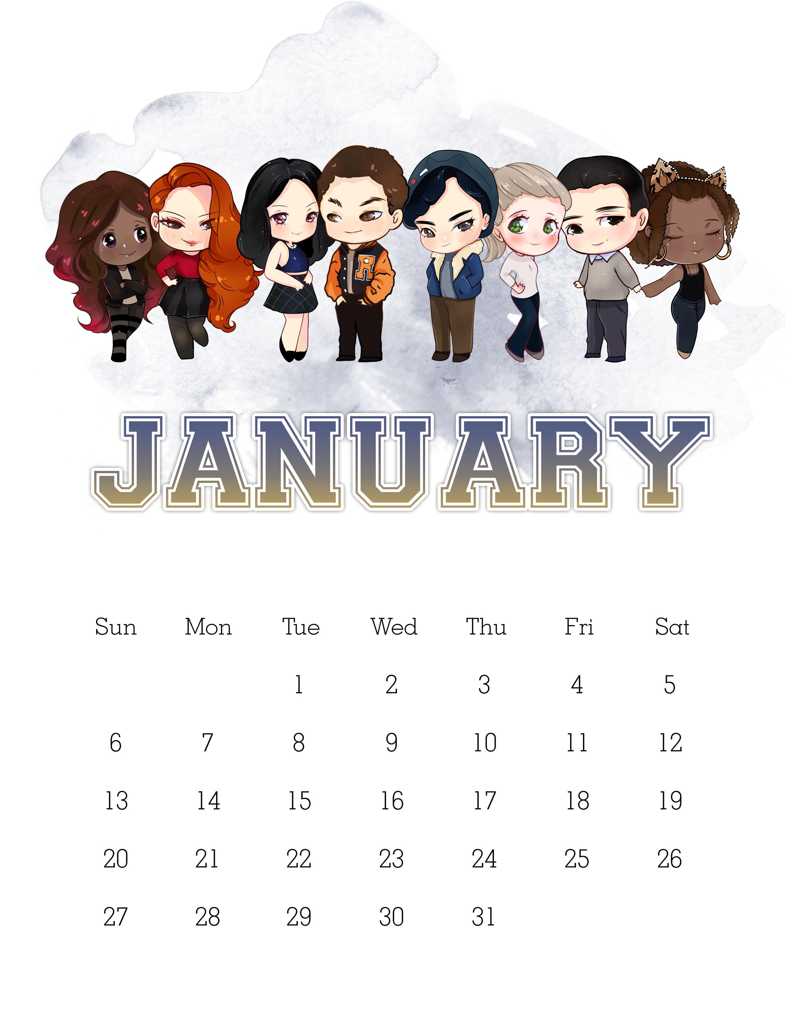 Calendario 2019 Disney Para Imprimir.Free Printable 2019 Riverdale Calendar The Cottage Market