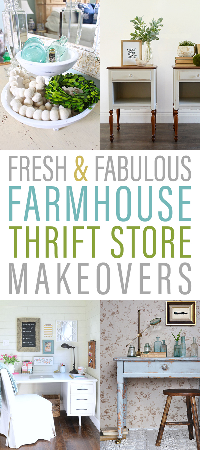 Fresh and Fabulous Farmhouse Thrift Store Makeovers that are just waiting for you to be inspired by! The before and afters are so amazing! ENJOY!