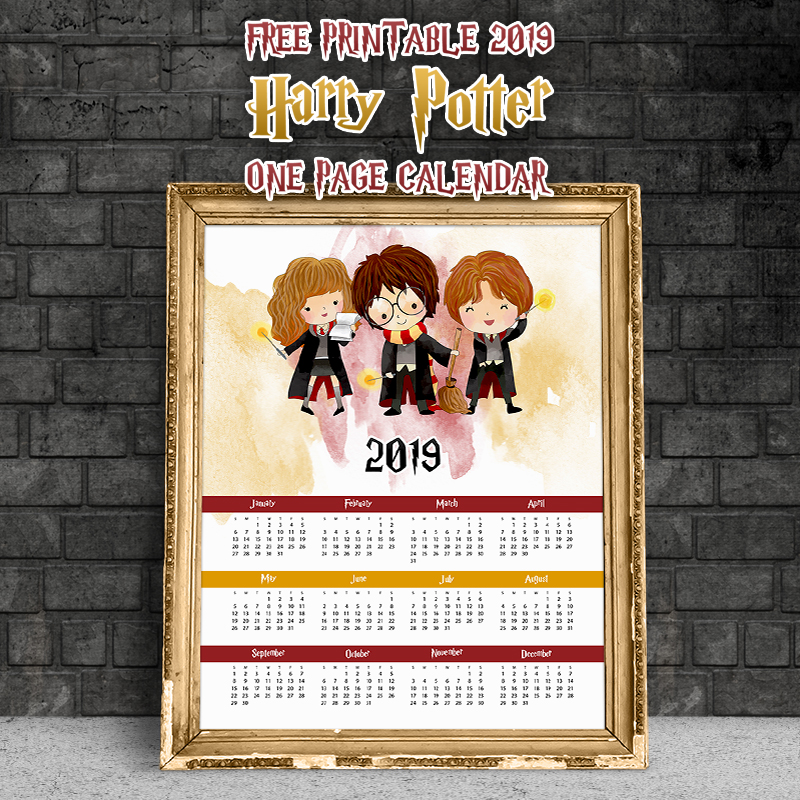 The Best Free Printable 2019 Calendars are waiting for you! Come and print the ones that you love and created your own personal Calendars for the New Year!
