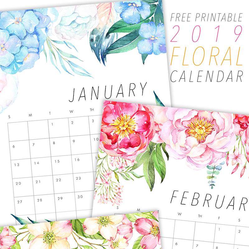 Designall20 July 2012: The Best Free Printable 2019 Calendars