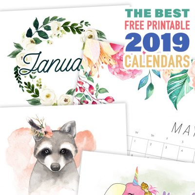 The Best Free Printable 2019 Calendars