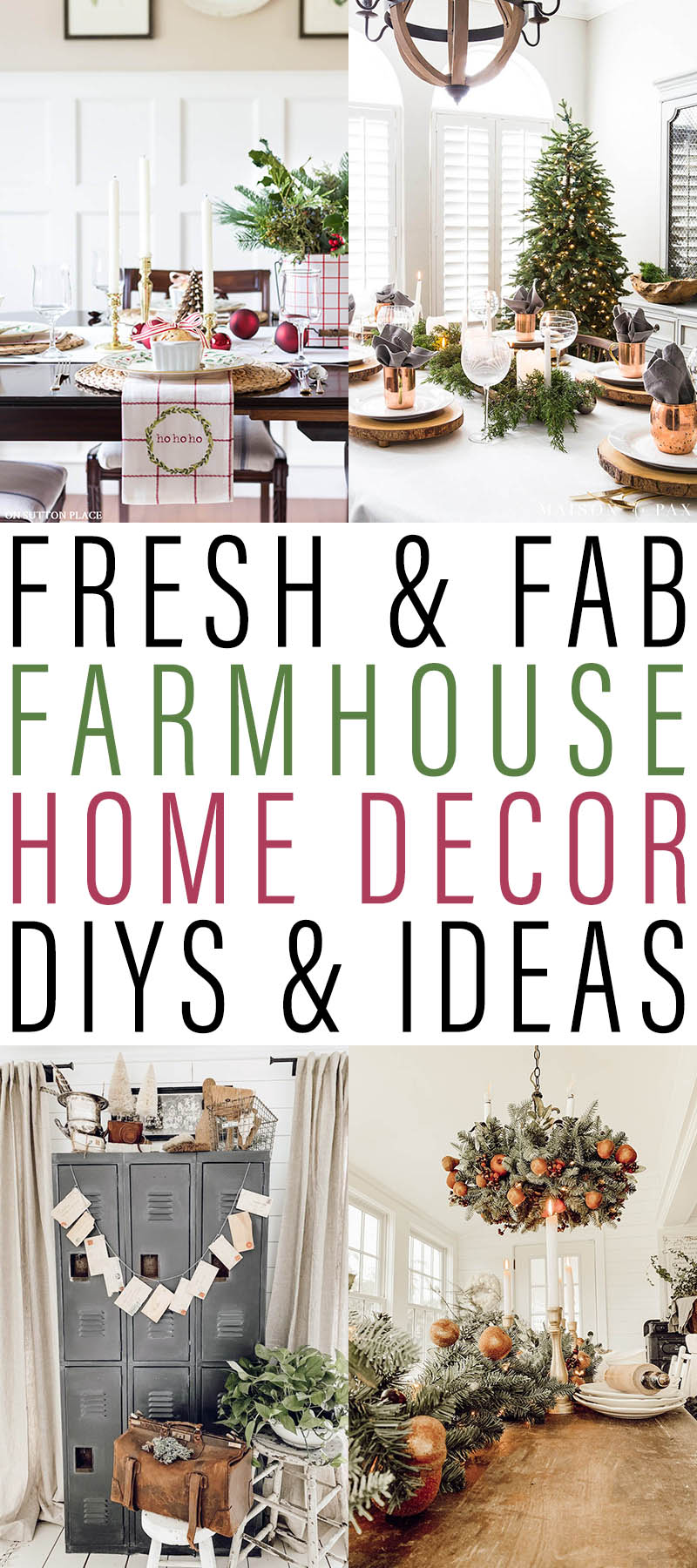 Fresh and Fab Farmhouse Home Decor DIYS and Ideas. Come and enjoy what's new in the wonderful world of Farmhouse! Tons of ideas, Inspirations and DIYS!