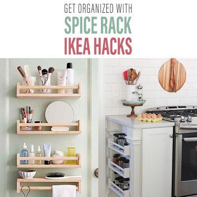 Get Organized with Spice Rack IKEA Hacks