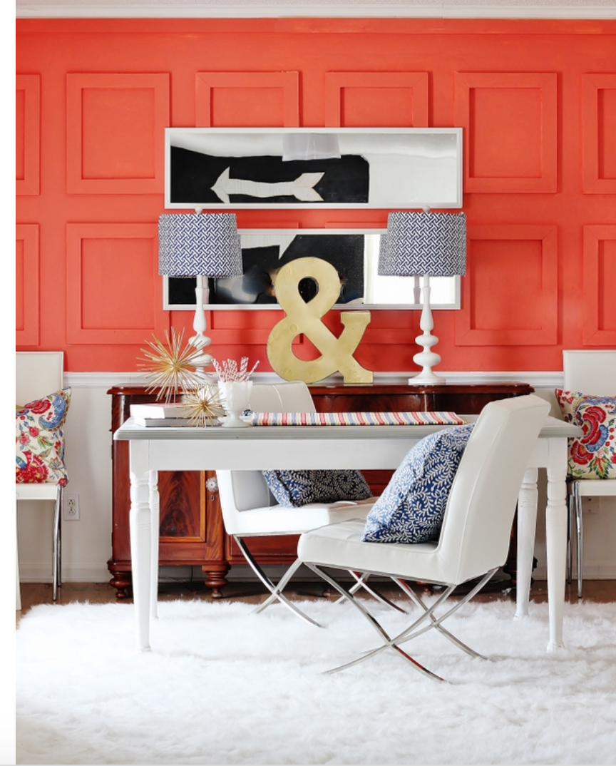 The Color Of 2019 Pantone Living Coral Used In Home Decor