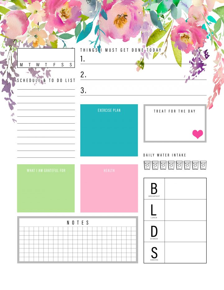 It's just a graphic of Intrepid Daily Planner Printable