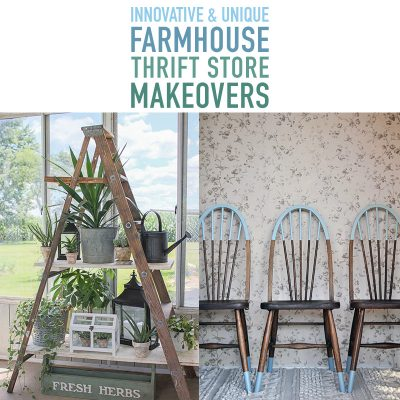 Innovative and Unique Farmhouse Thrift Store Makeovers