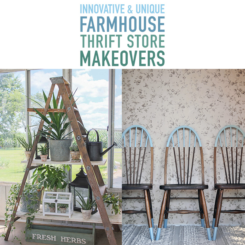 Innovative and Unique Farmhouse Thrift Store Makeovers are waiting for you to check out! Each and everyone of them will give you tons of inspiration & ideas