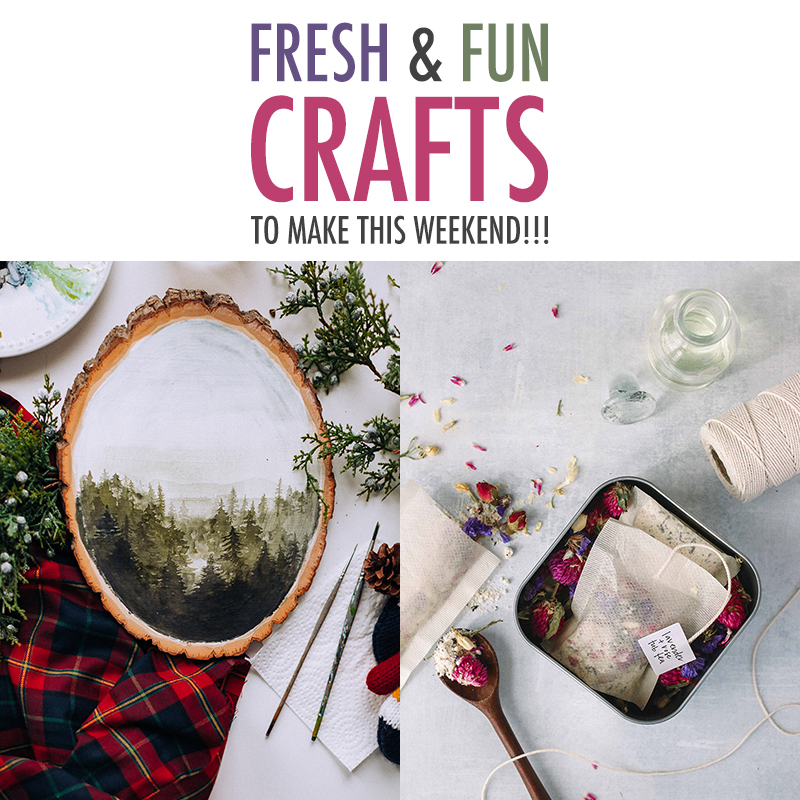 Fresh and Fun Crafts To Make This Weekend! Join us for the first episdoe of the New Year! Filled with fun crafts that you can make over the Weekend!
