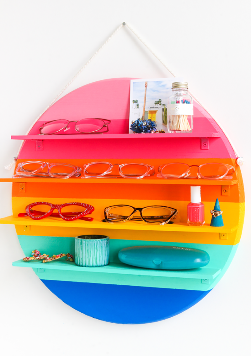 Colorful and Quirky Crafts To Make This Weekend! A collection of colorful DIY Craft Projects that will make you smile! Items for your home... desk and more!