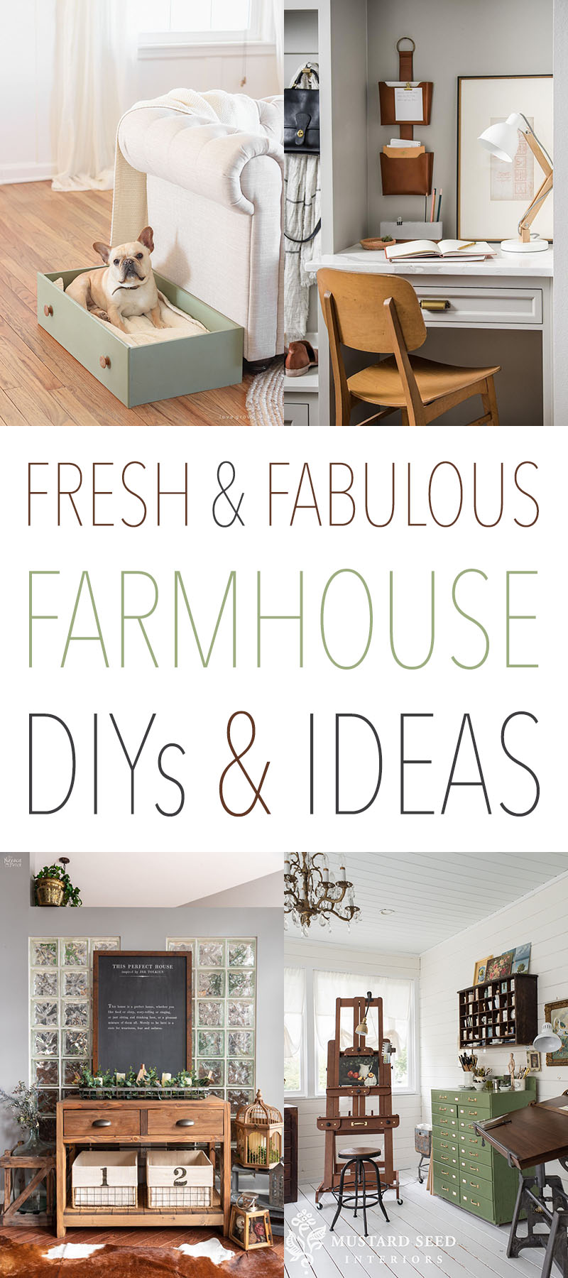 Fresh and Fabulous Farmhouse DIYS and Ideas are waiting for you over at TheCottageMarket.com Keep up with what is new this week in the Farmhouse Blogosphere